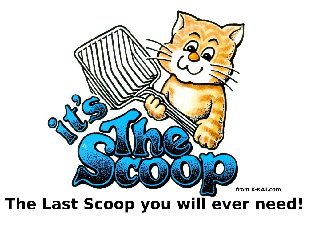Cat Show banner, it's the scoop